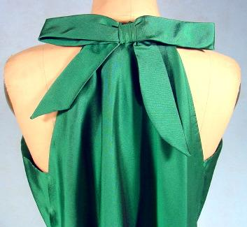 c. 1960's CHRISTIAN DIOR, Paris Green Silk Dress